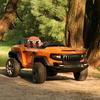 Детский электромобиль Henes Broon T870 оранжевый (полноприводный внедорожник)